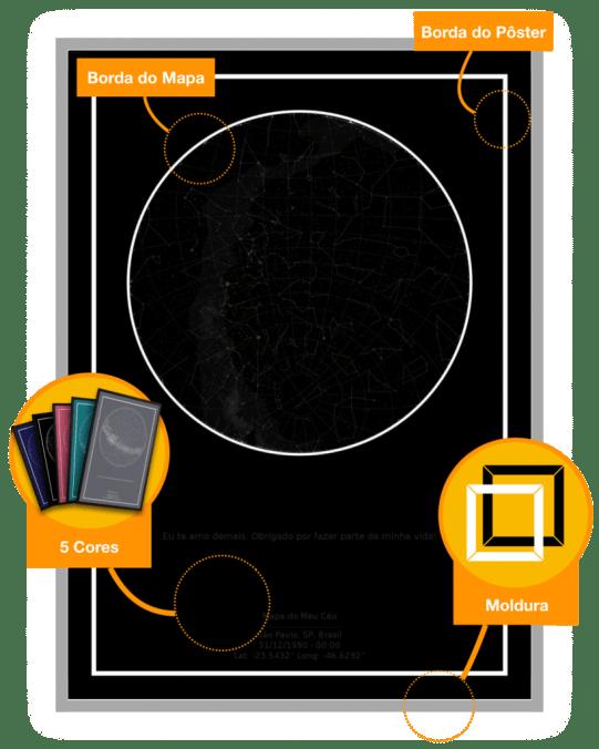 imagem do mapa do meu céu com as possibilidades para presente de aniversário para namorado