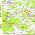 Туристичний маршрут з села Снідавка на хребет Ігрець (карта)