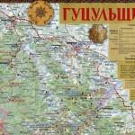 Культурно-туристична карта Гуцульщини