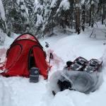 Зимова ніч в горах Адірондак (США)