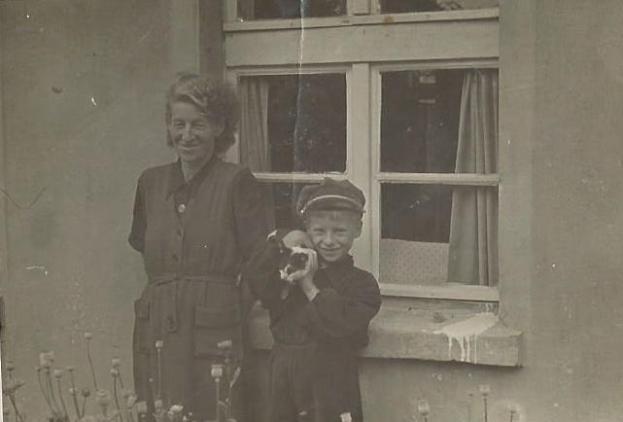 Marta Bilińska z synem Edwardem.