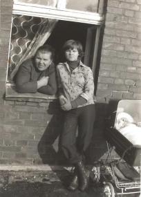 Maria Marzec z córką Haliną.