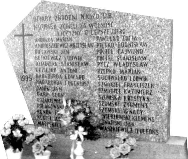 Płyta nagrobna - ofiary zbrodni NKWD UB