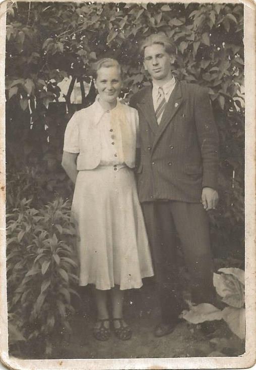 Zofia Mówka z bratem