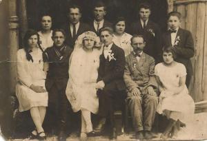 Ślub Honoraty i Marcina Łosiów w Kostopolu, luty 1927