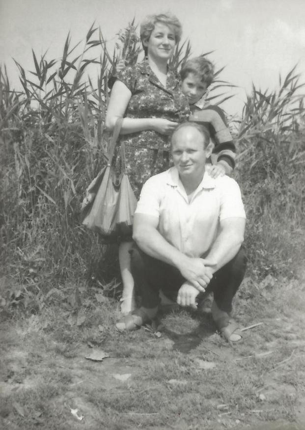 Sylwia Kowalczyk z mężem Zdzisławem i synem Grzegorzem