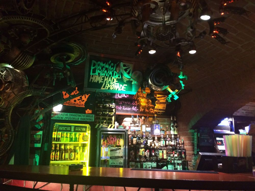 Offbeat Prague: Underground bar made of cycle parts