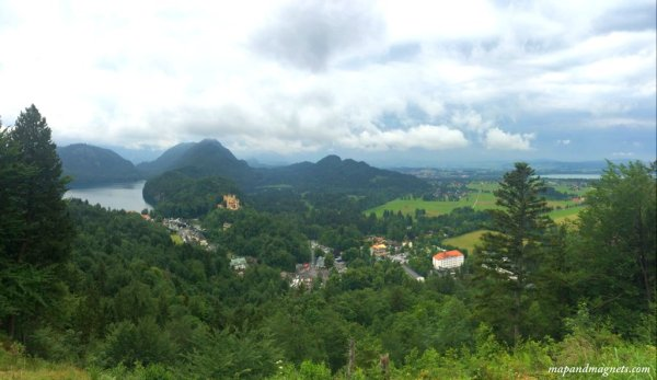 Panoramic view outside the Neuschwanstein Castle on a day trip from Munich