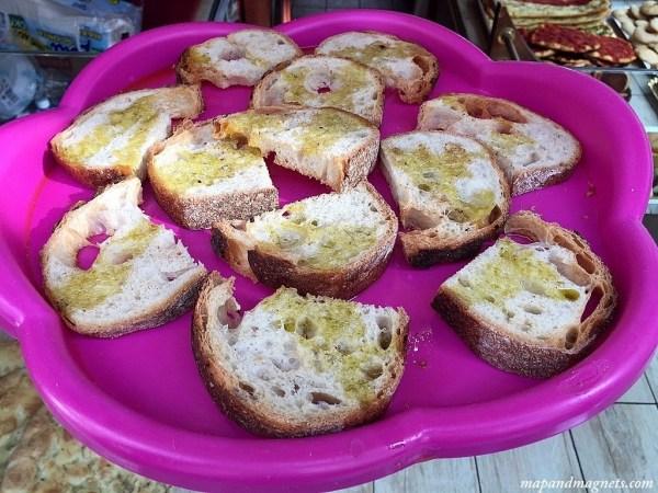 warm focaccia bread