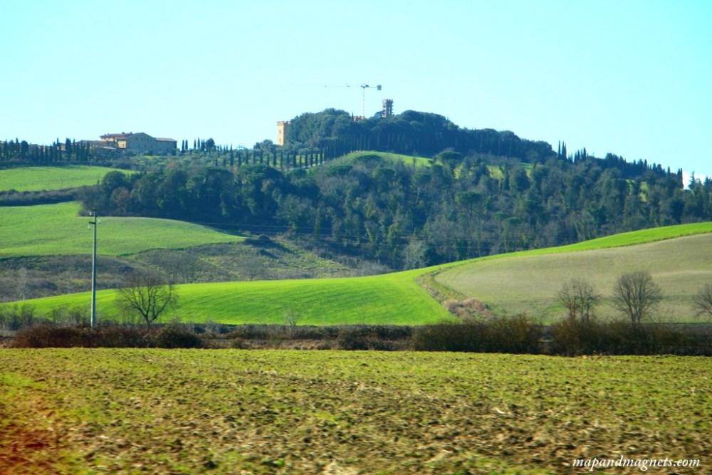 Tuscany countryside views