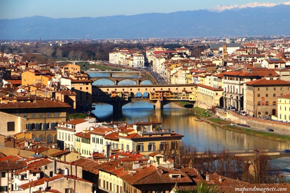 Ponte Vecchio view from Piazza Michelangelo