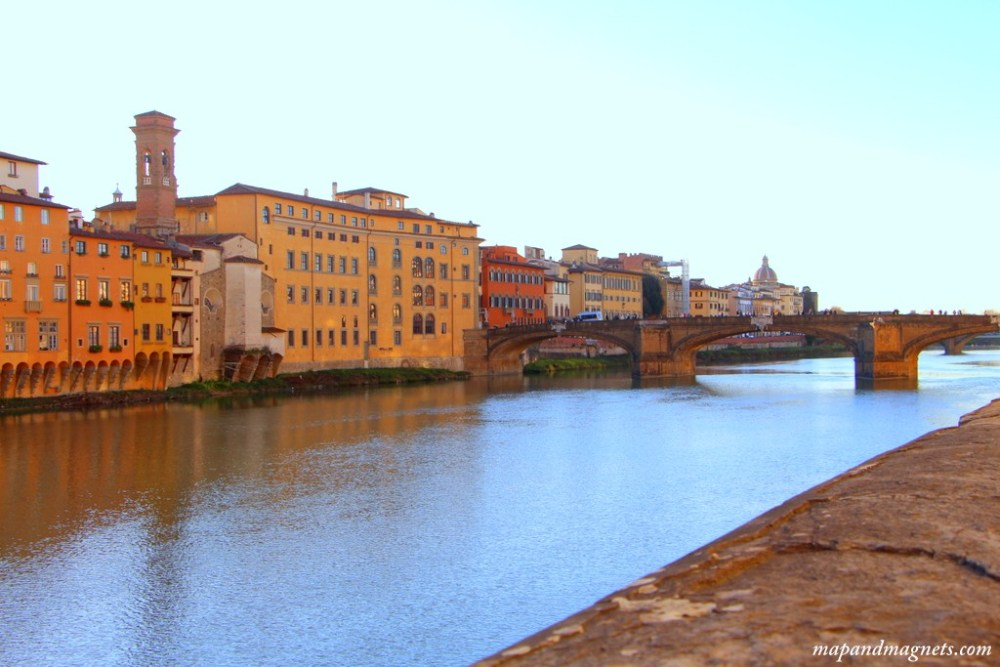 Florence views over Arno river