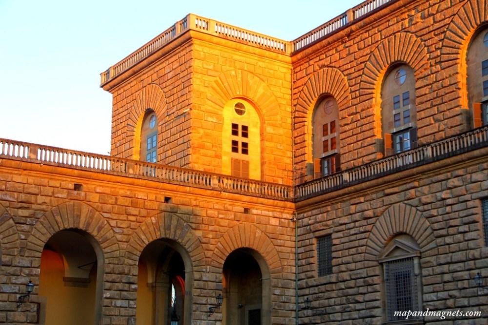 Palazzo Pitti at sunset