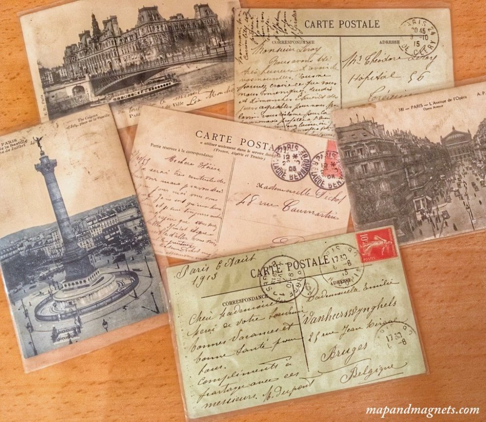 Vintage postcards from Paris