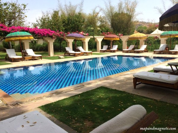 Ranthambore Oberoi Vanyvilas pool