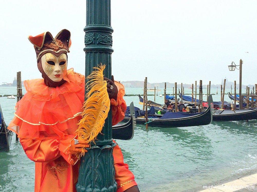 Venice carnival gondola