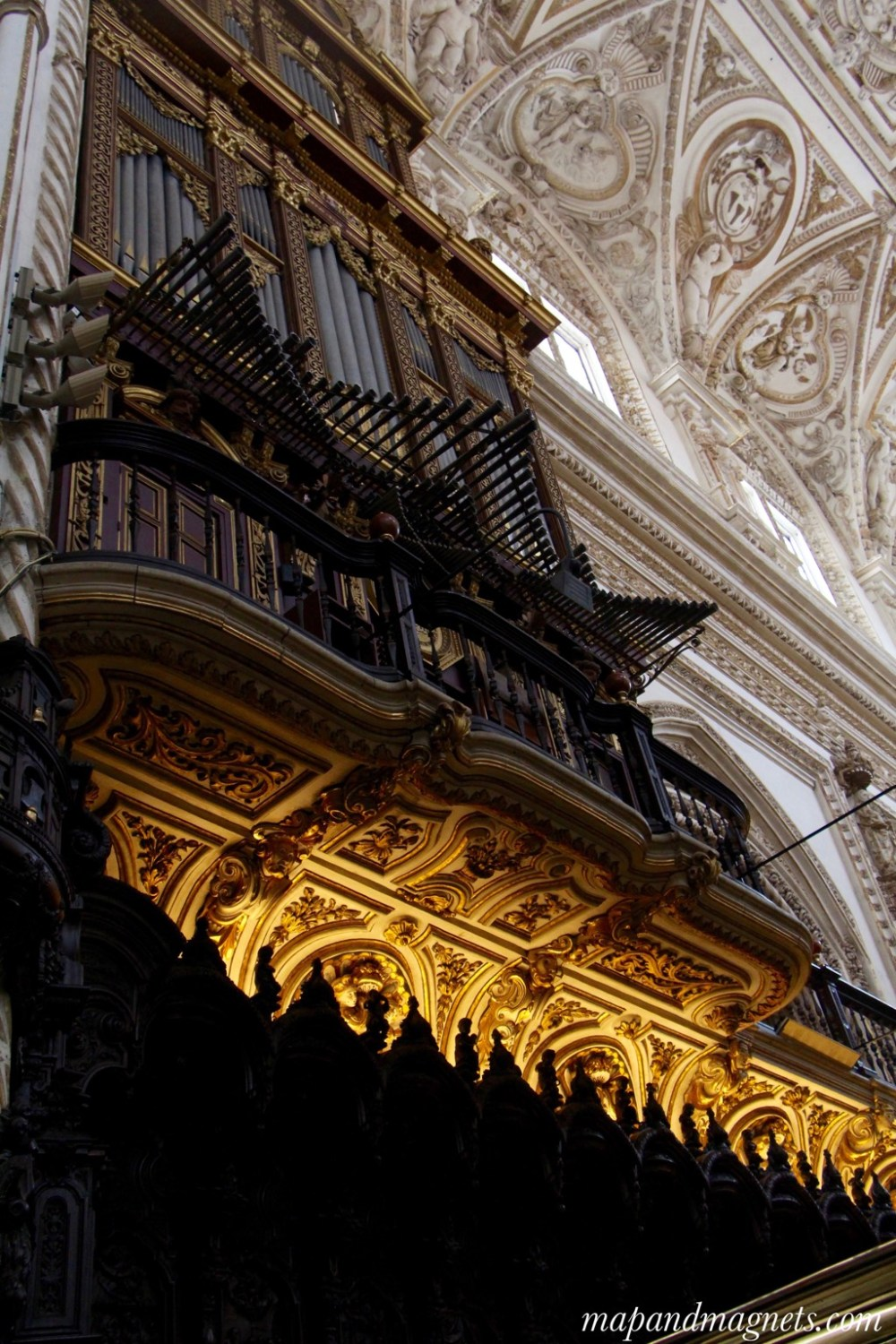 Cathedral area of the Mezquita Cordoba