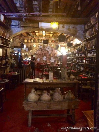 La Tinaja is bar filled with cauldrons in Barcelona