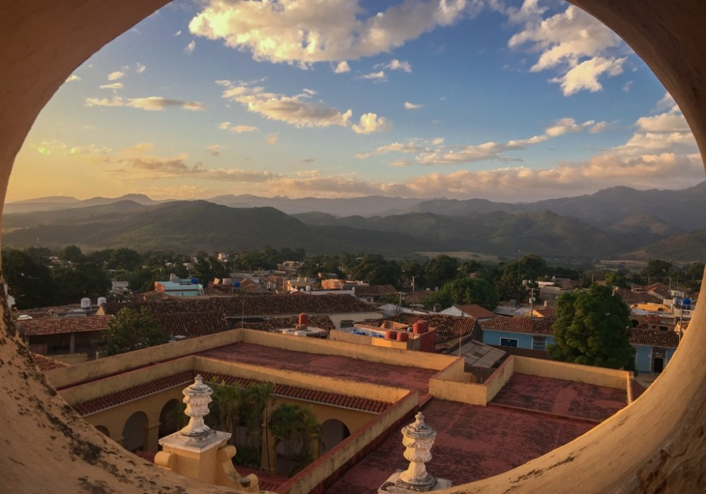 Views from bell tower in Trinidad Cuba