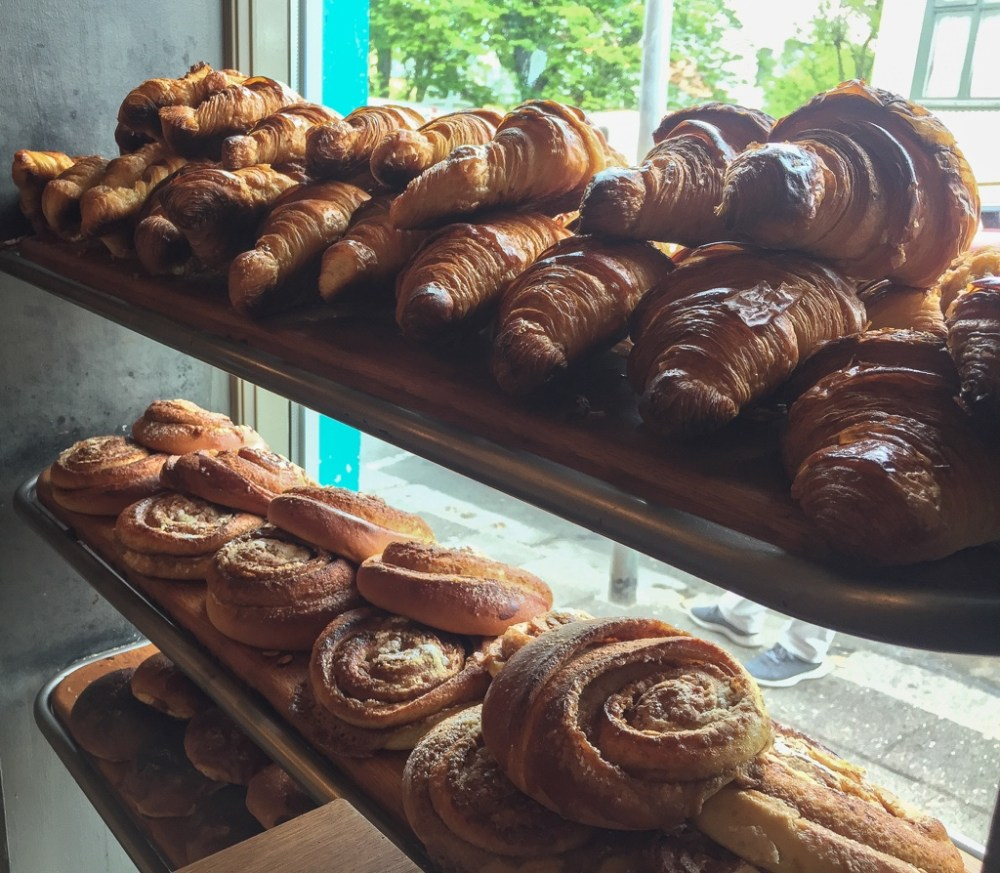 Croissants in Braud and Co bakery in Reykjavik