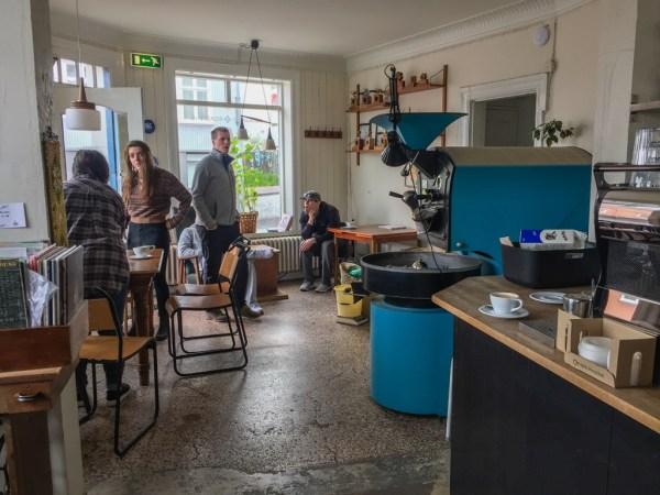 Interiors of Reykjavik Roasters cafe