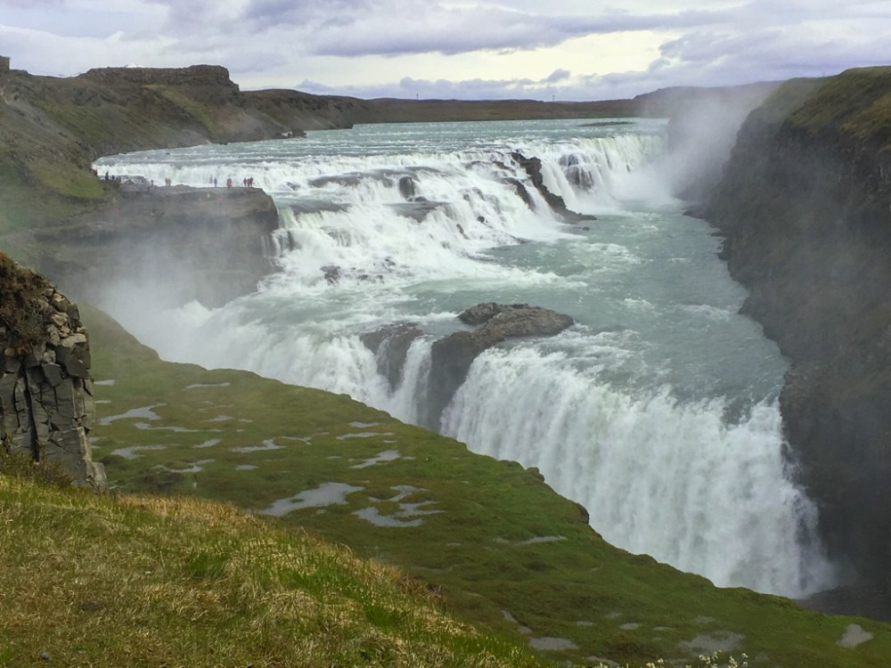 Gullfoss is one of the most powerful waterfalls in Iceland