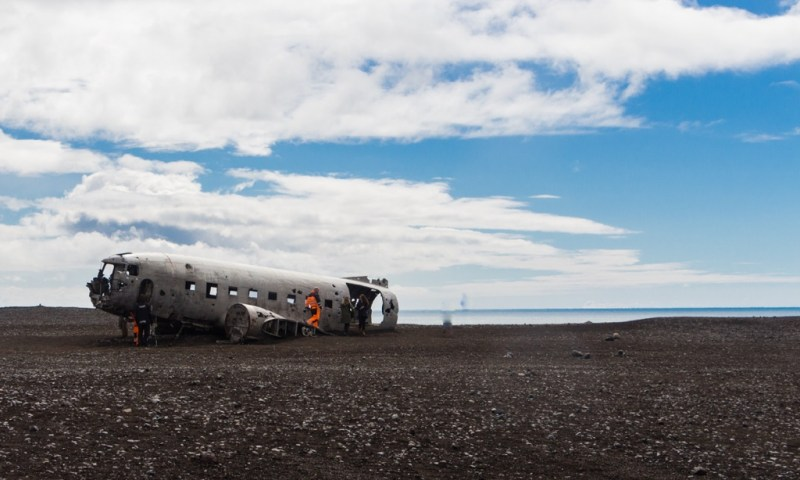Airplane wreck in Iceland
