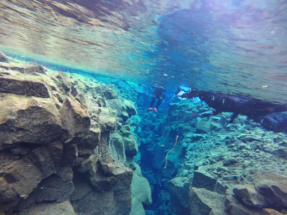 Snorkeling in Silfra is a surreal experience