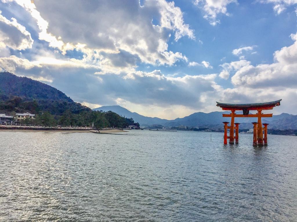 Floating Torii in Japan
