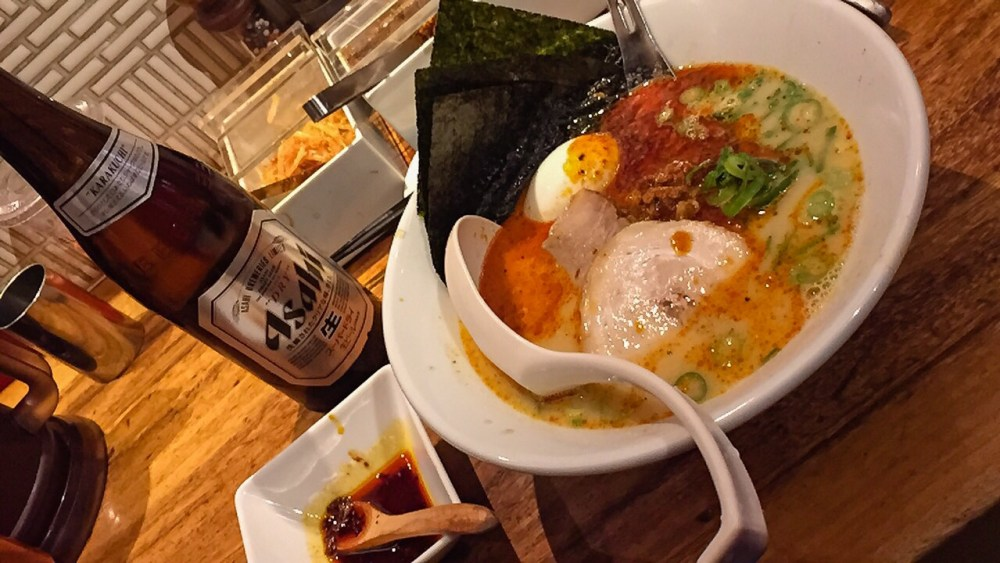 Ramen at the Ippudo restaurant in Japan