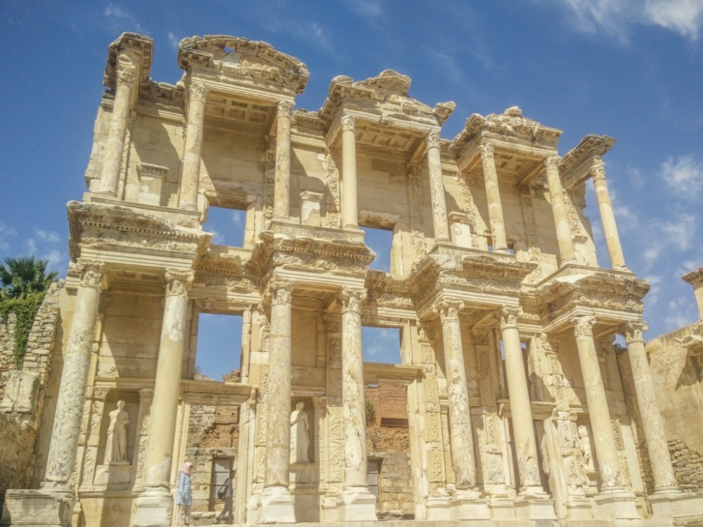 Ruins in the town of Ephesus in Turkey