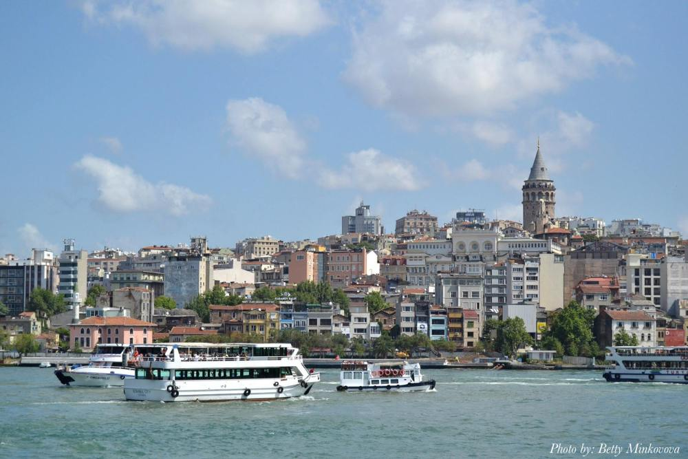 Along the Bosphorus river in Istanbul
