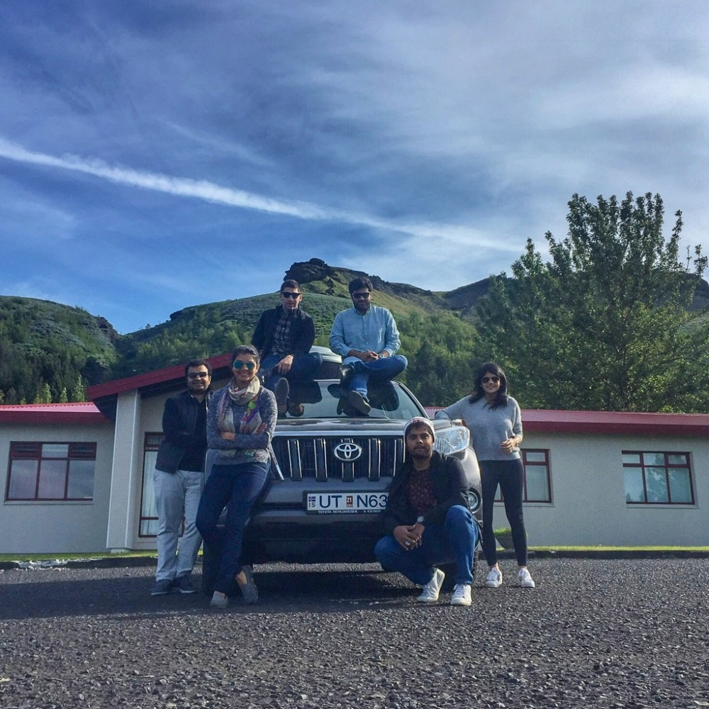 Road trip crew in Iceland