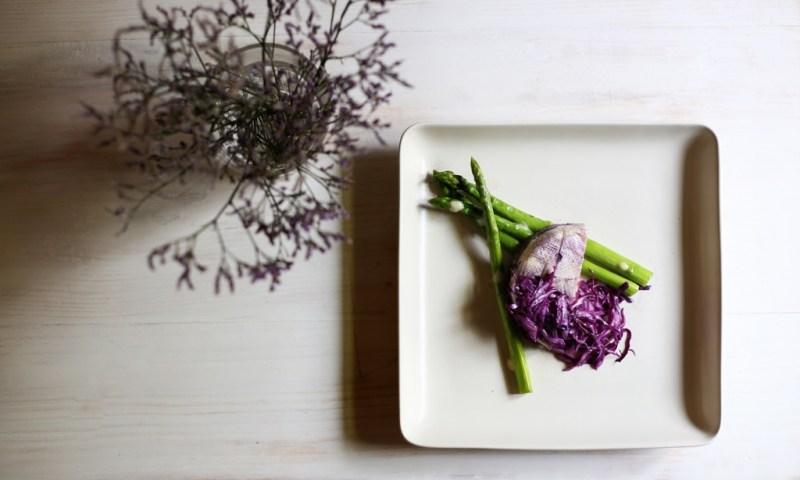 Asparagus dish at Lovefools, Mumbai