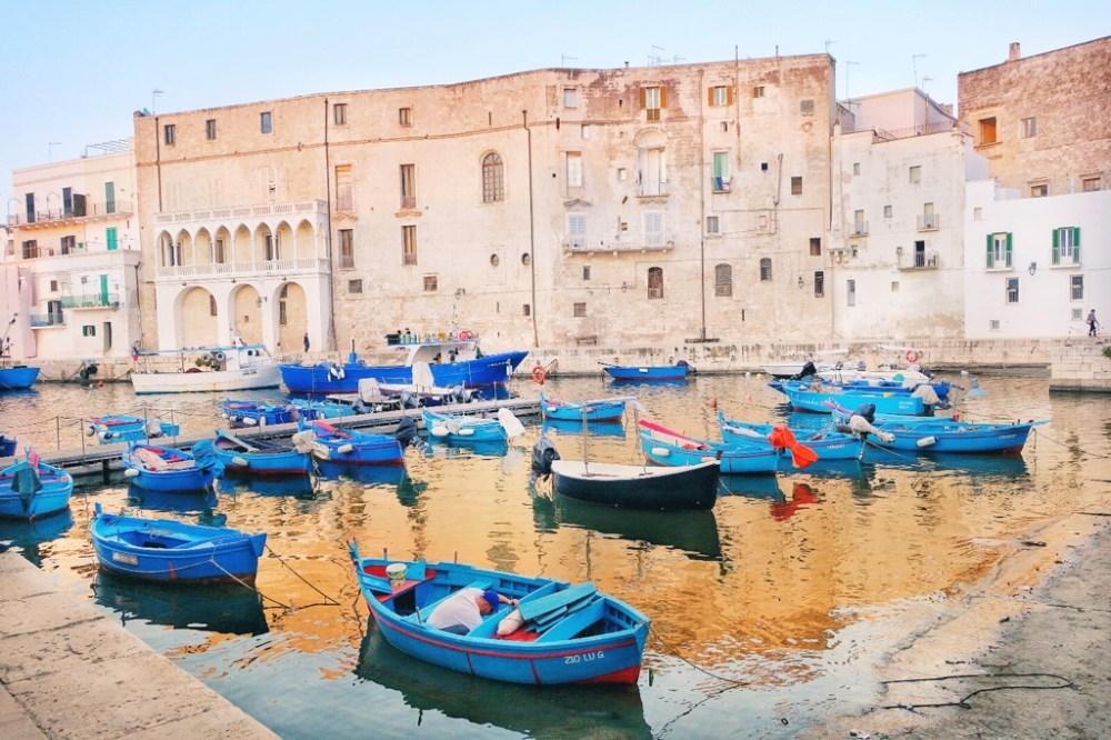 An Italian seaside village with boats
