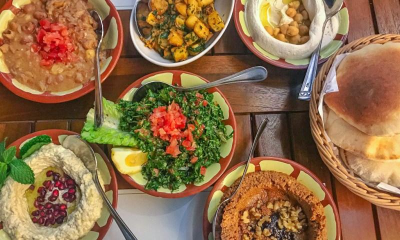 Vegetarian Middle Eastern feast