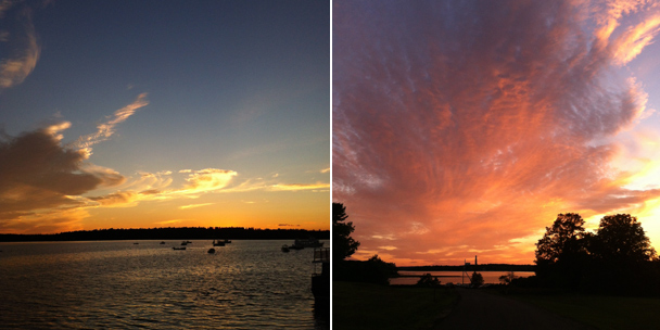 Instagram Chebeague Sunset
