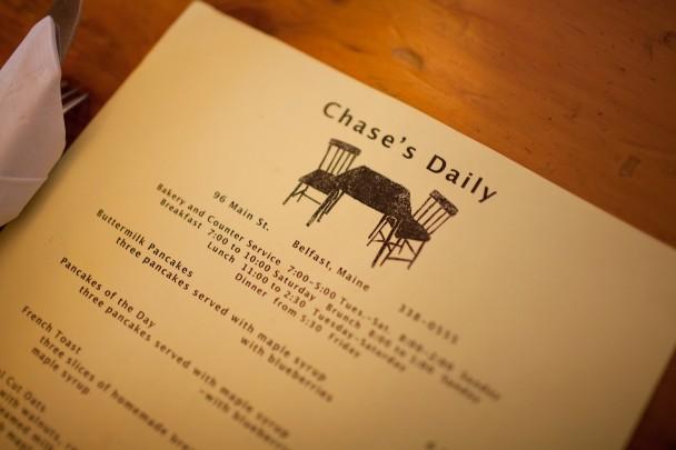Chase's Daily Menu
