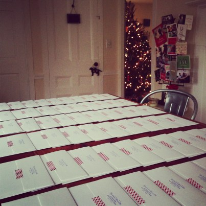 Just a few Christmas cards