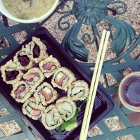 Sushi on the patio