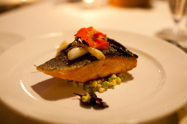 Salmon at SoLo Farm and Table