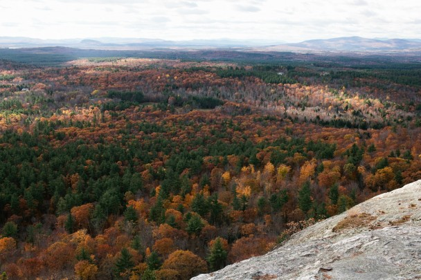 View from Sabattus Mountain Maine