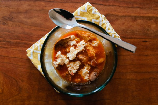 Tomato Soup with Pimiento Cheese
