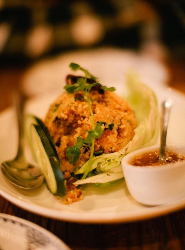 Bida Manda Crispy Rice Lettuce Wrap
