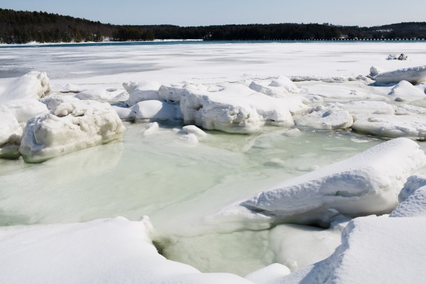 Sheepscot River in Winter Maine