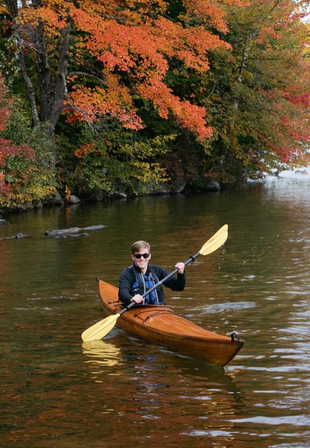 Kayaking Lake Sunapee