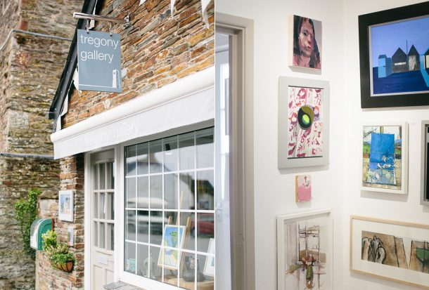 Tregony Gallery Cornwall Travel Guide by Map & Menu