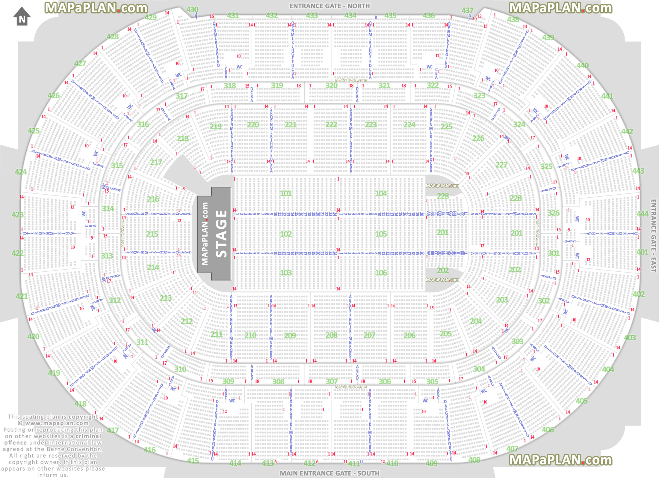Detailed Seating Chart Prudential Center Newark Nj
