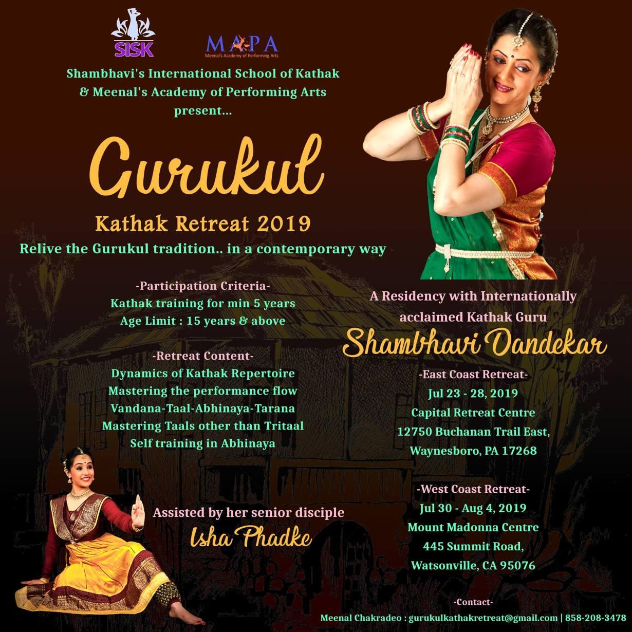 Gurukul Kathak Retreat 2019
