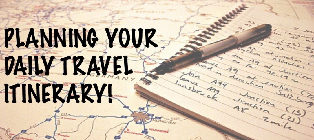 how to plan travel itinerary